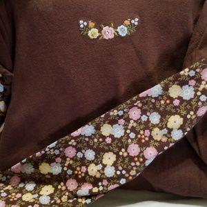🔆 100% cotton Flower sleeve tee